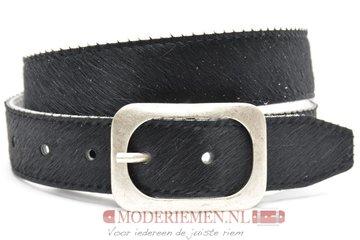 4cm jeans riem koebont zwart koezw405