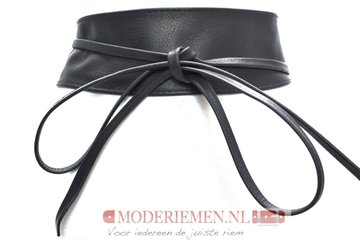 8 cm brede dames riem zwart Giuliano