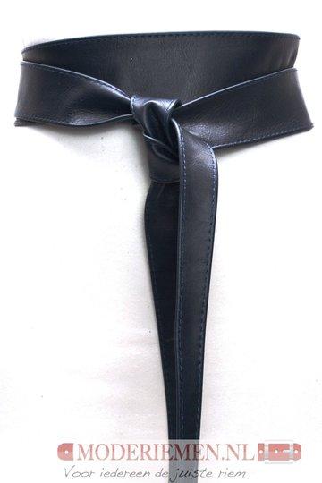6 cm brede dames riem donkerblauw Unleaded