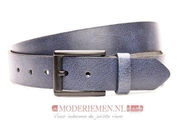 4cm blauwe riem - jeans riem donkerblauw bl40602am