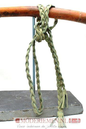 Gevlochten knoop riem Khaki Unleaded U15219