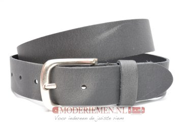 3,5cm grijze riem Unleaded - jeans riem grijs gr35368