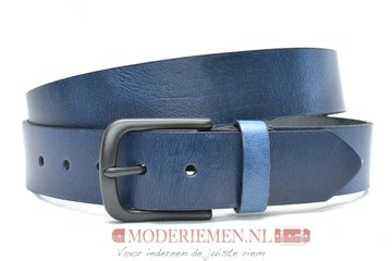 4cm blauwe  riem - jeans riem blauw bl40604am
