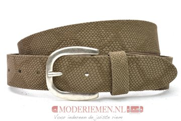 3,5cm python riem Unleaded taupe / khaki U35373