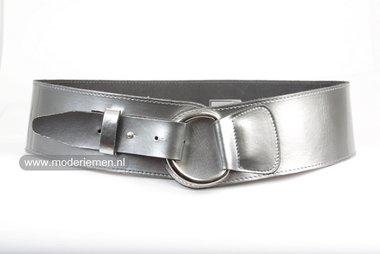 8cm brede dames riem zilver zi8140