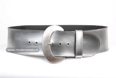 8cm brede dames riem zilver zi801