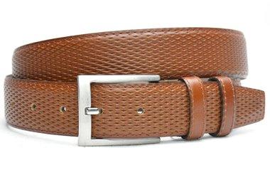 3,5 cm pantalon riem cognac 3503