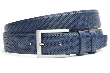 3,5 cm pantalon riem blauw 3503