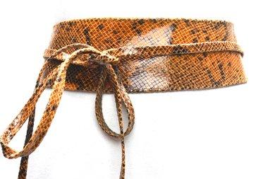 8cm knoopriem cognac snake