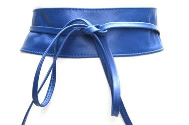 8 cm knoopriem kobalt blauw 0001