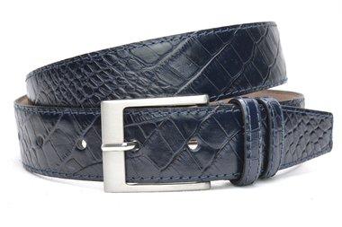 4cm blauwe riem croco 400cr