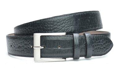 4 cm zwarte riem croco 400cr
