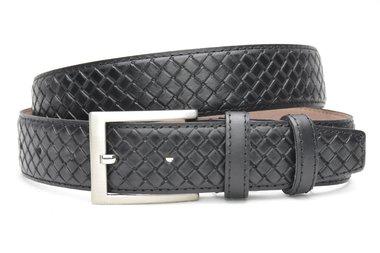 3,5 cm pantalon riem zwart 3504
