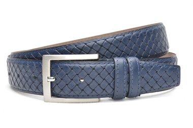 3,5 cm pantalon riem blauw 3504