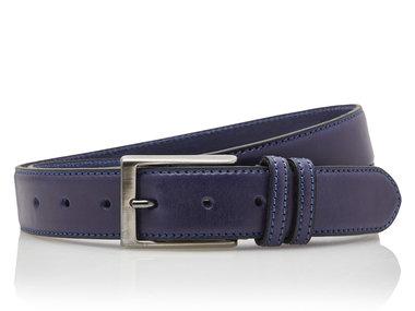 3,5 cm blauwe pantalon riem 35577