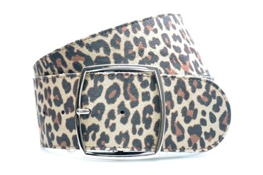6cm dames riem luipaard 60002