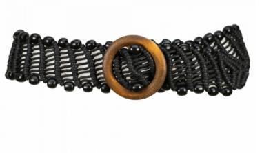 6cm zwarte taille riem 6508