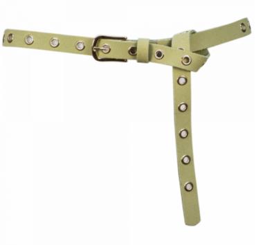 2 cm lange groene riem goud 20966
