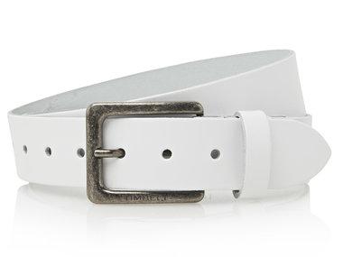 4cm witte riem - jeans riem wit Timbelt wi421Timbelt