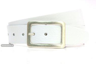 4,5cm witte riem - jeans riem wit wi454