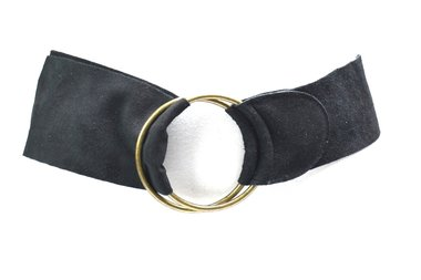 7 cm brede dames riem zwart 800049
