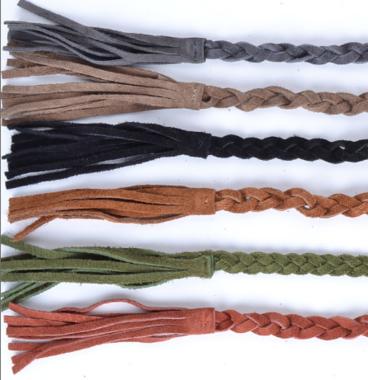 gevlochten riem grijs 800050