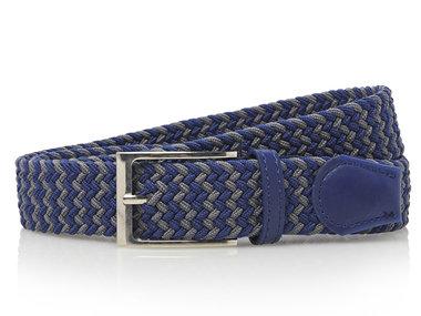 3,5cm multi blauw elastische riem TBe