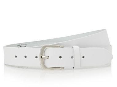 4 cm witte XXXL riem 160 cm