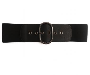 zwarte elastische riem 2619