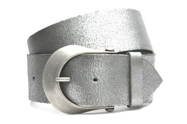 6 cm brede dames riem zilver 610