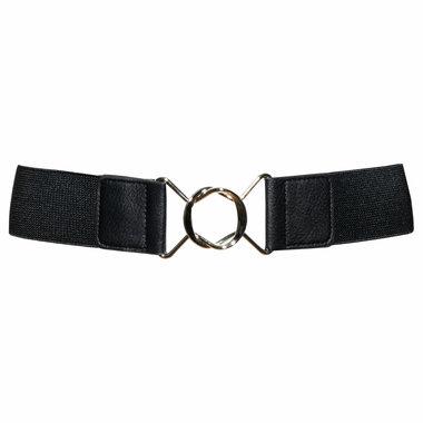 5 cm tailleriem zwart 19619