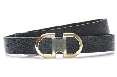 2,5 cm zwarte dames riem 25416