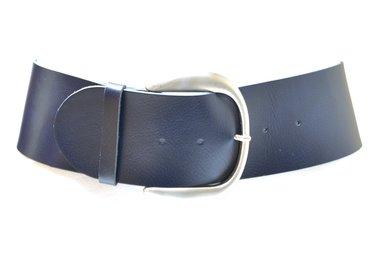 8 cm blauwe dames riem 8801