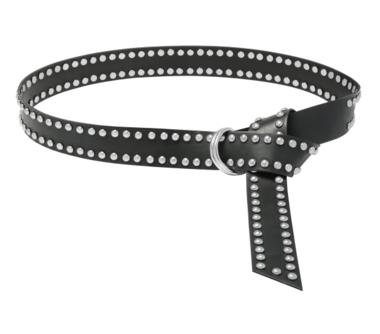 4cm lange zwarte riem zilver 0510408