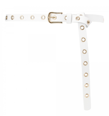 2 cm lange witte riem goud 20939