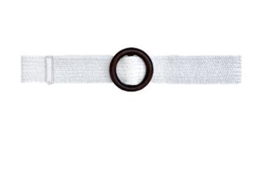 witte raffia riem houten gesp 20871