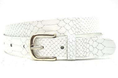 3cm witte riem snake 30875
