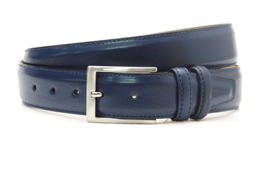 3,5cm pantalon riem blauw bl350am