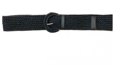 gevlochten riem zwart 26158