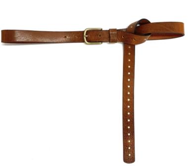 2,5 cm cognac jeansriem met studs 2542