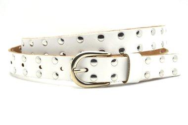 2,5cm witte riem studs 25423