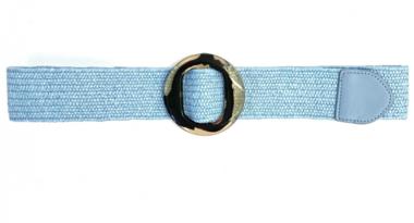 blauwe raffia riem LF9553