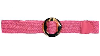 roze raffia riem LF9553