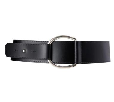 6cm brede dames riem zwart met zilver 60682