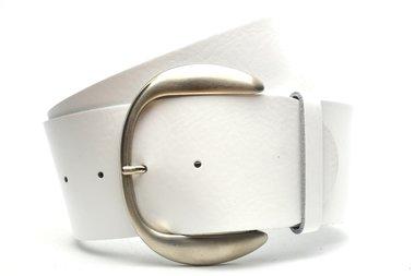 8 cm witte dames riem 8801