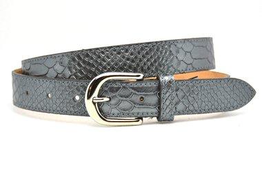 3cm dames riem python zilver 30943