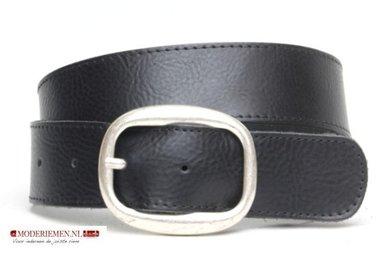 4cm zwarte riem - jeans riem zwart zw40521am