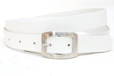3cm witte riem - dames riem wit wi301