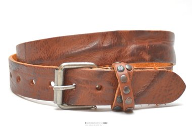 3,5cm cognac riem - jeans riem cognac Take-it CO702TB
