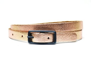 1,5cm kinderriem rosé metallic crack leder Take-it krose435tb